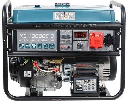Agregat prądotwórczy KONNER & SOHNEN KS 10000E-3 + Olej + Zestaw Transportowy