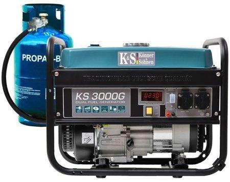 Agregat prądotwórczy KONNER & SOHNEN KS 3000G + Olej + Zestaw Transportowy