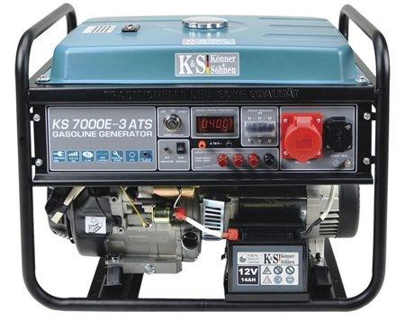 Agregat prądotwórczy KONNER & SOHNEN KS 7000E-3 ATS + Olej + Darmowa DOSTAWA