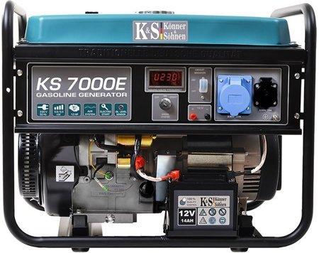 Agregat prądotwórczy KONNER & SOHNEN KS 7000E + Olej + Darmowa DOSTAWA